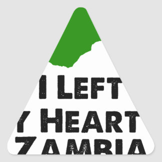 I Left My Heart in Zambia Triangle Sticker