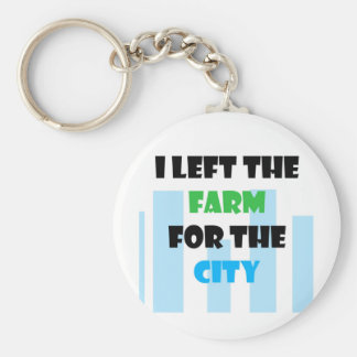 i left the farm for the city keychains