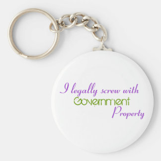 I legally screw with , Government, Property Keychain