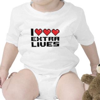 I les vies supplémentaires de coeur t-shirt