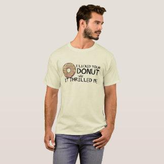 """I Licked Your Donut"" Men's Basic Shirt"
