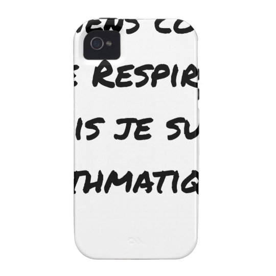 I LIE AS I BREATHE, BUT I AM ASTHMATIC iPhone 4/4S CASE