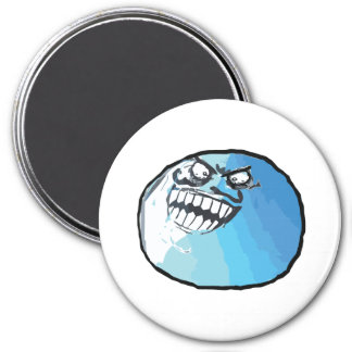 I Lied Rage Face Meme 3 Inch Round Magnet