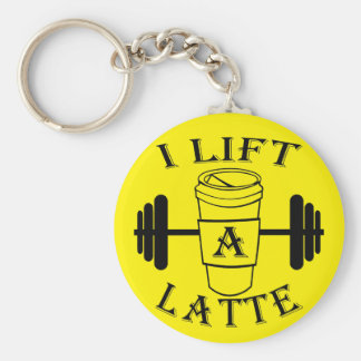 I Lift A Latte Basic Round Button Keychain