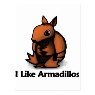 I Like Armadillos Post Card