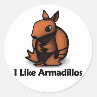 I Like Armadillos Round Sticker
