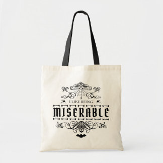 I Like Being Miserable Halloween Gothic Graphic Tote Bag