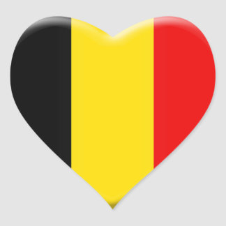 I like Belgium Heart Sticker