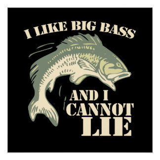 I like big bass and I cannot lie Perfect Poster