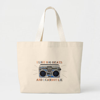 I Like Big Beats Large Tote Bag