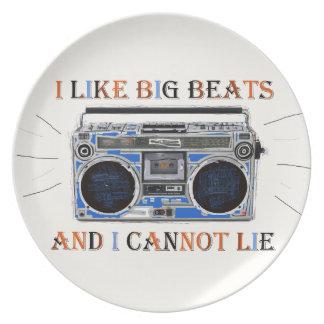 I Like Big Beats Plate