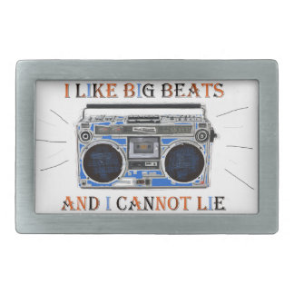 I Like Big Beats Rectangular Belt Buckles