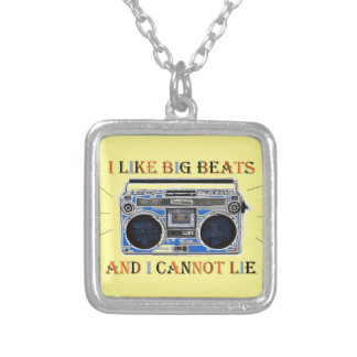 I Like Big Beats Silver Plated Necklace