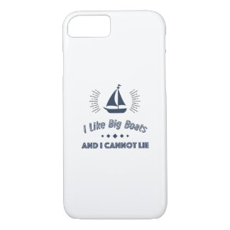 I Like Big Boats And I Cannot Lie Funny Sail Case-Mate iPhone Case