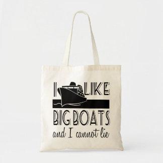 I Like Big Boats Cruise Tote Bag