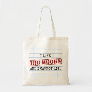 I Like Big Books and I Cannot Lie Funny Library Budget Tote Bag