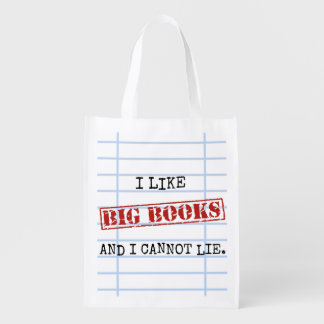 I Like Big Books and I Cannot Lie Funny Library Reusable Grocery Bags