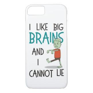 """""""I Like Big Brains"""" Cute Zombie Phone Case"""