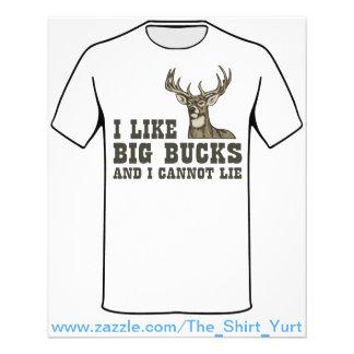 I Like Big Bucks And I Cannot Lie Flyers