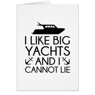 I Like Big Yachts Card
