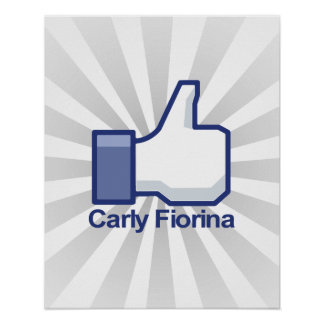 I Like Carly Fiorina Thumbs up Poster