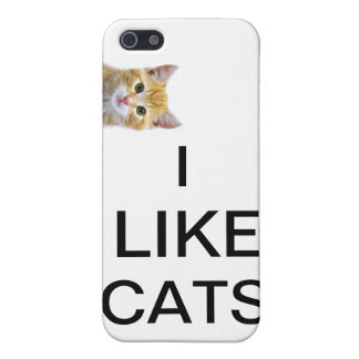 I like cats iPhone 5/5S cases