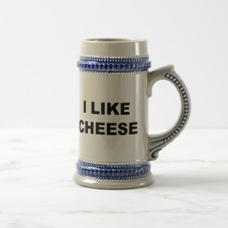 I Like Cheese Beer Stein