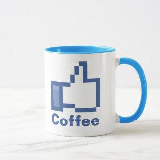 I Like Coffee FB Facebook thumbs up mug