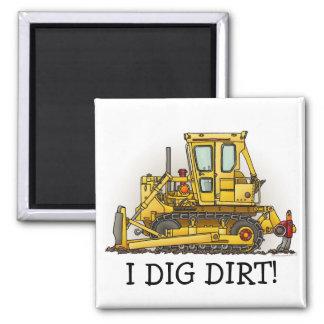 I Like Dirt Bulldozer Dozer Magnet