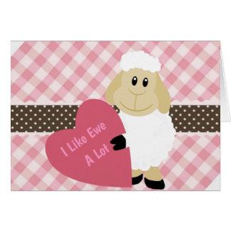 I Like Ewe A Lot Card