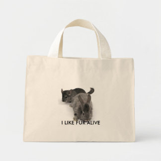 I LIKE FUR ALIVE MINI TOTE BAG