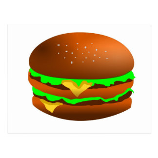 I like hamburgers postcard