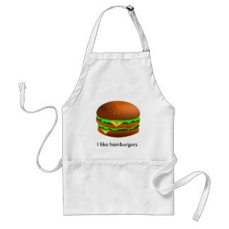 I like hamburgers standard apron