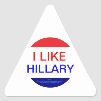 I LIKE HILLARY (MULTIPLE PRODUCTS) TRIANGLE STICKER