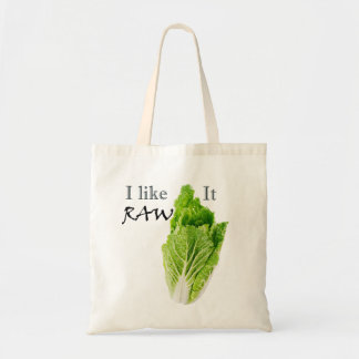 I Like It Raw Tote Bag Raw Vegan Shopping Bag
