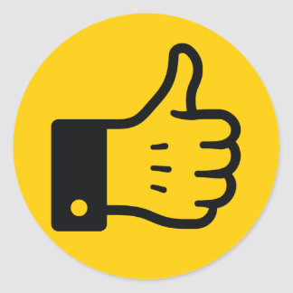 I Like It Thumb UP(Yellow) Sticker