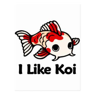 I Like Koi Postcard