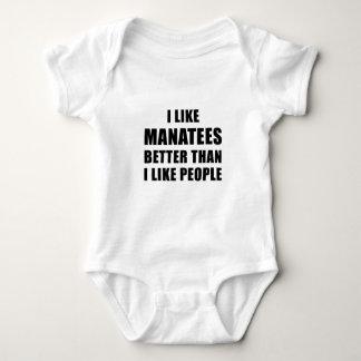 I Like Manatees Better Than I Like People Baby Bodysuit