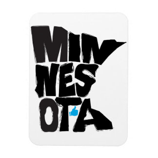 I Like Minnesota State Typographical Map Art Magnet