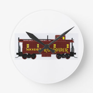 I Like Model Railroads Round Clock