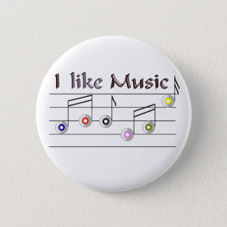I like Music 2 Inch Round Button