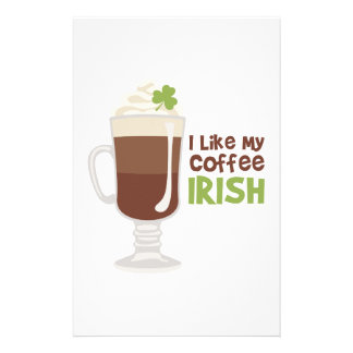 I Like My Coffee Irish Stationery