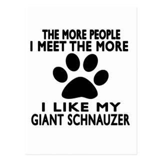 I like my Giant Schnauzer. Postcard