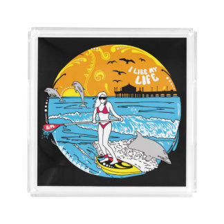 """I like MY life"" paddle board tray"