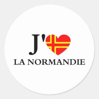I like Normandy Classic Round Sticker