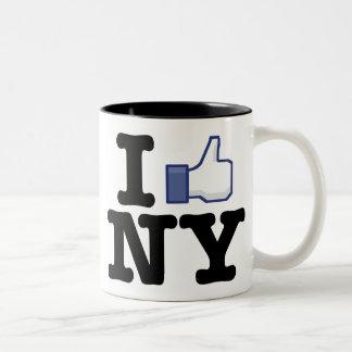I Like NY Two-Tone Coffee Mug