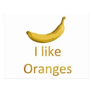 I like Oranges Postcard