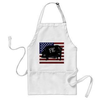 I Like Pig Butts and I Cannot Lie US Flag Standard Apron