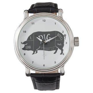 I Like Pig Butts and I Cannot Lie Wristwatch