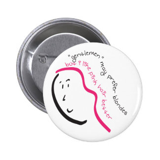 I Like Pink Hair 2 Inch Round Button